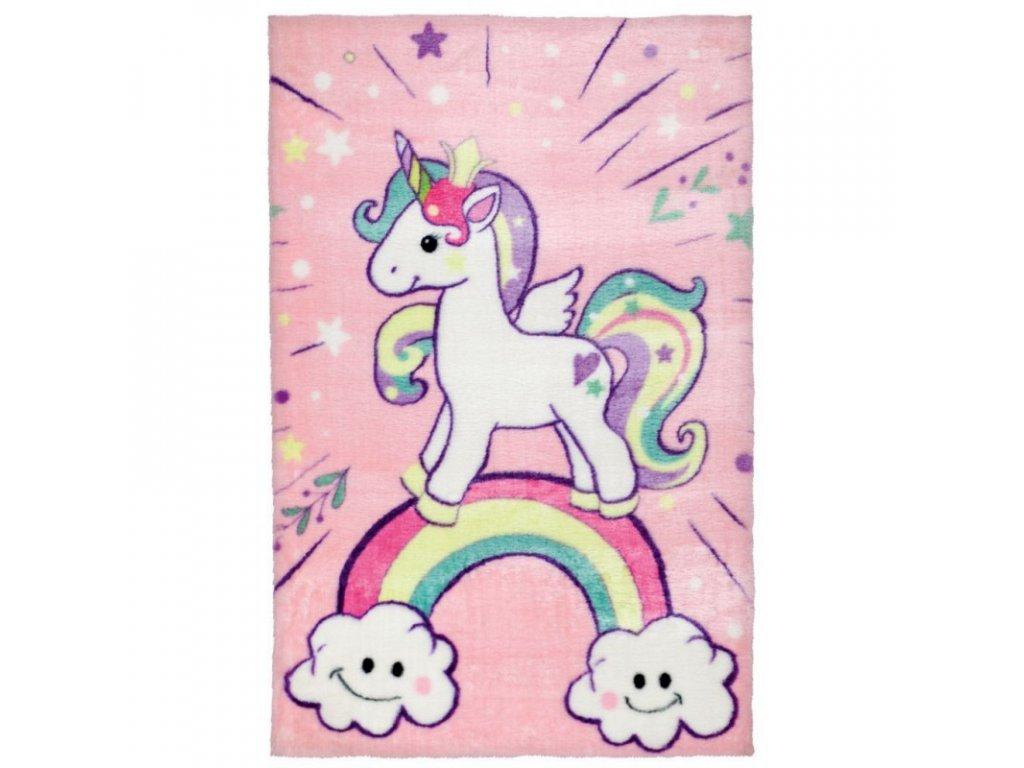 Kusový koberec pro holčičky - Kouzelný jednorožec je opravdu kouzelný