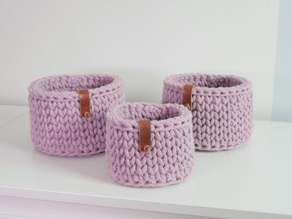 Háčkované košíčky bavlna