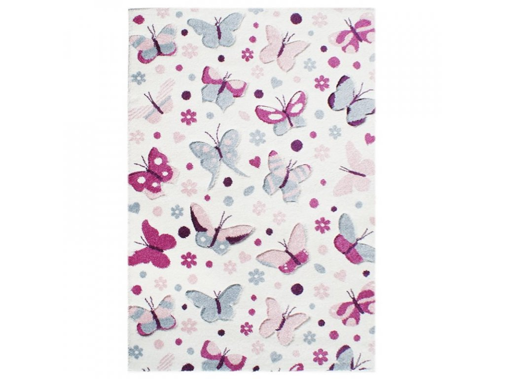 koberec s motýli