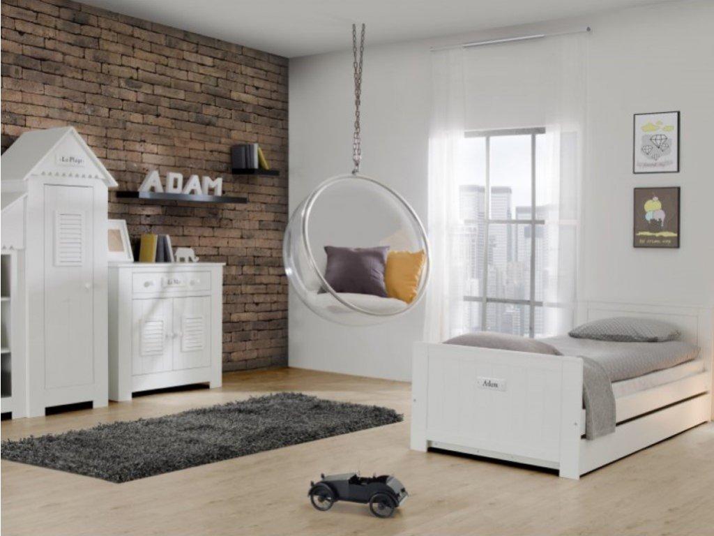 Stylový dětský pokojíček Marsylia s montessori rostoucí postelí