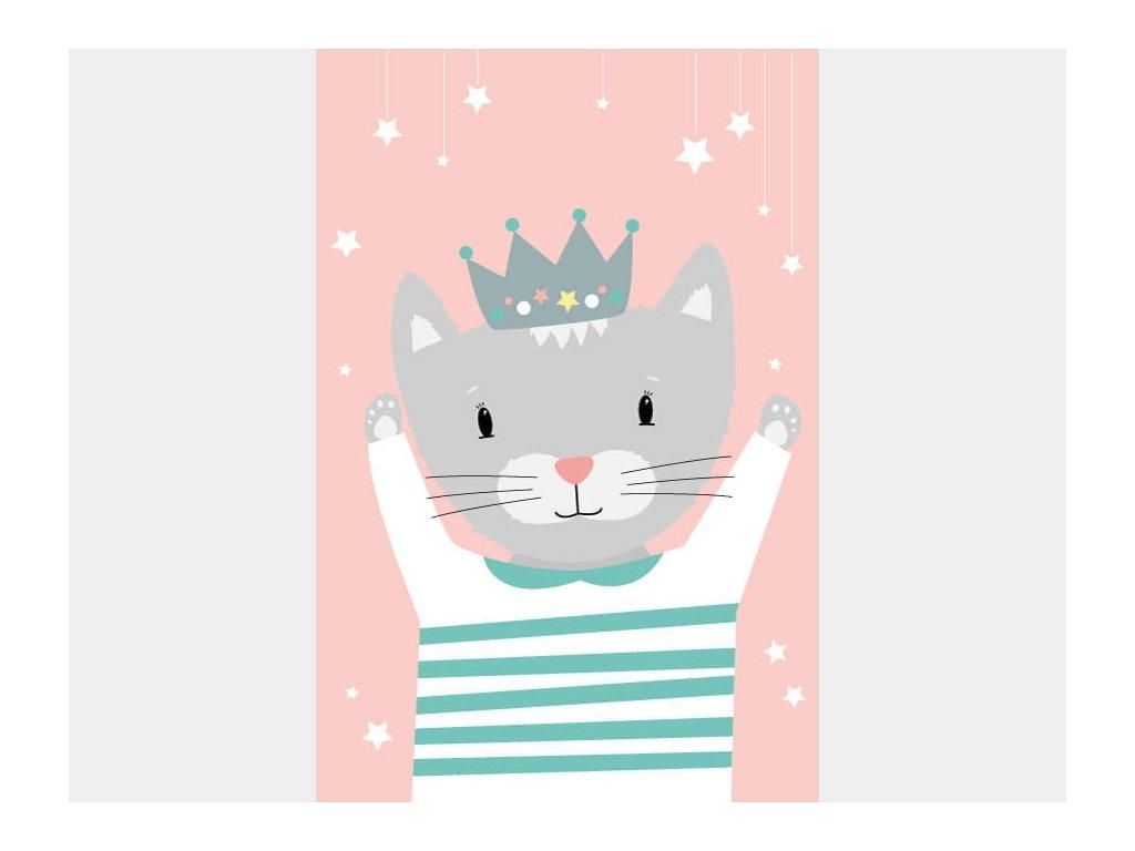 kočička s korunkou plakát
