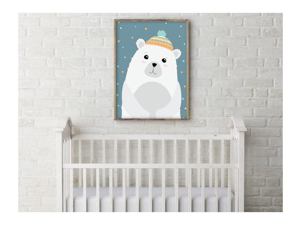 postýlka a lední medvěd