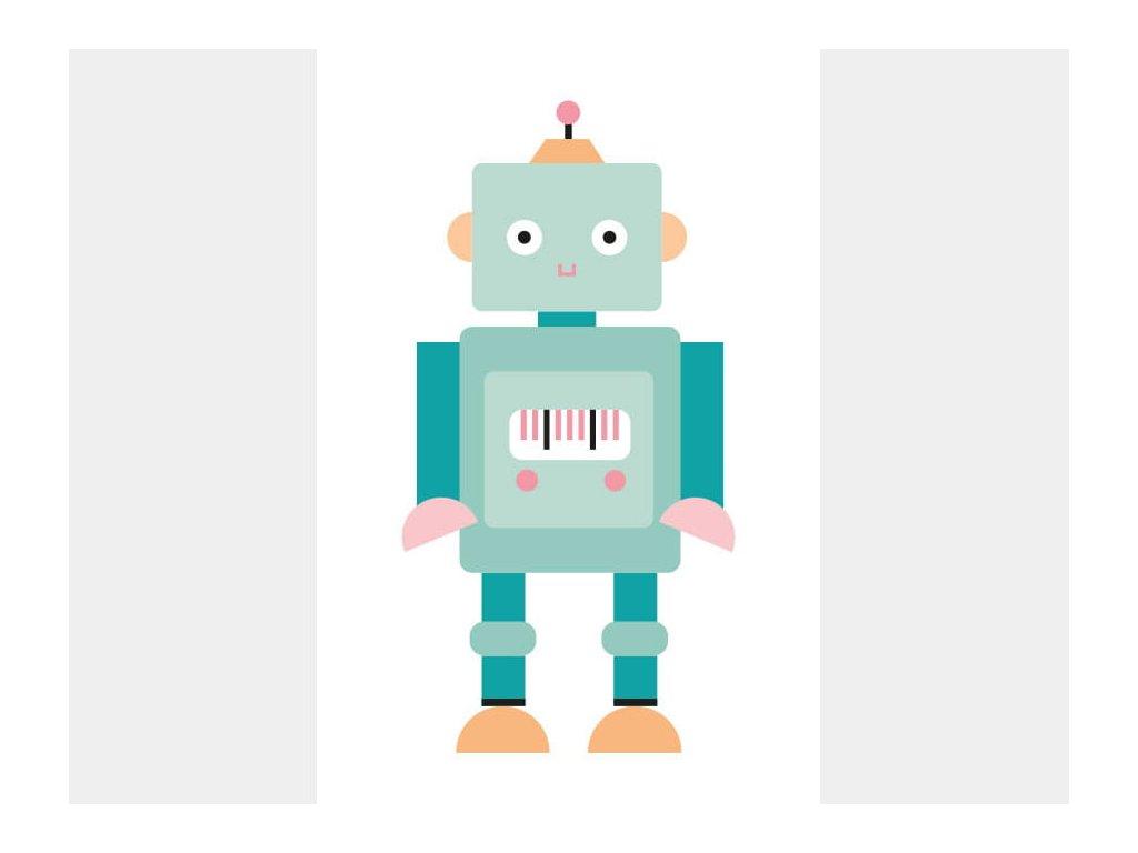 plakát s robotem