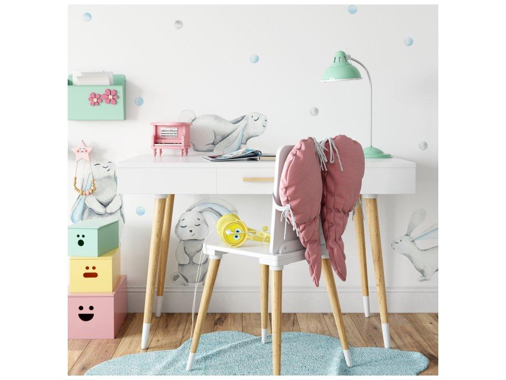 nálepka na zeď dětský pokoj králíci