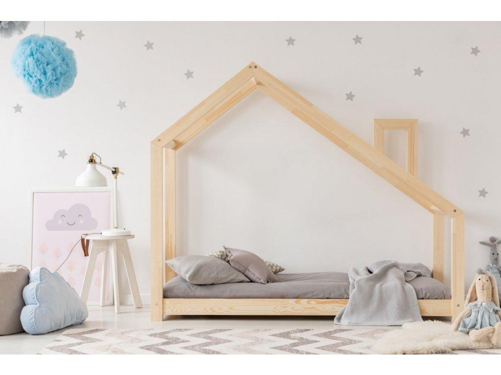 dětská kvalitní postel z borovice v oblíbeném designu, domeček pro klidný spánek i denní dětské hry.