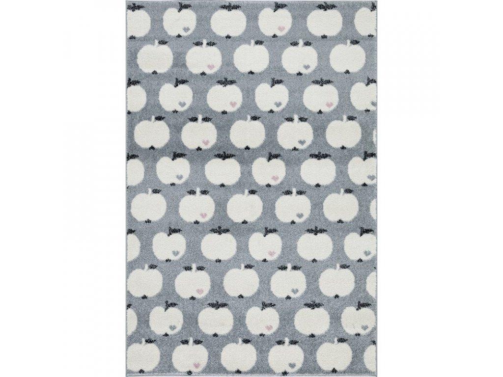 stříbrnošedý jablíčkový koberec