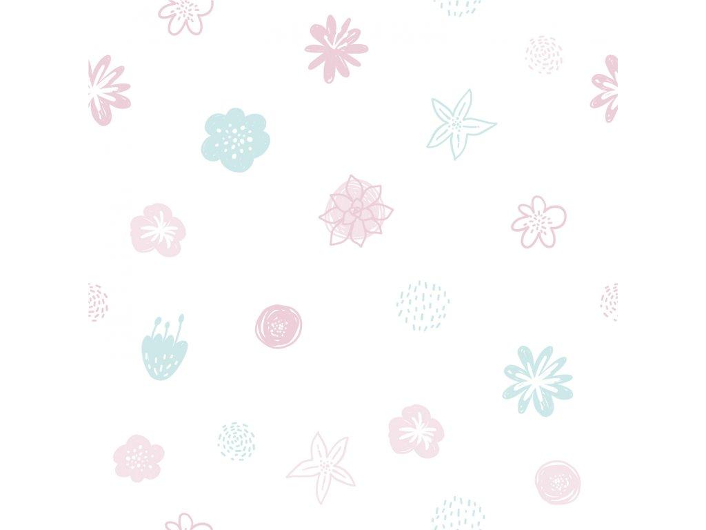 Tapeta do dětského pokoje s květy