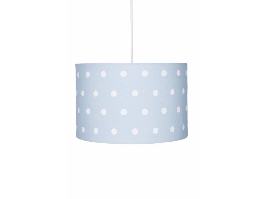 Originální a moderní dětské stropní světlo, lustr - Modrý s puntíky, nejen pro kluky