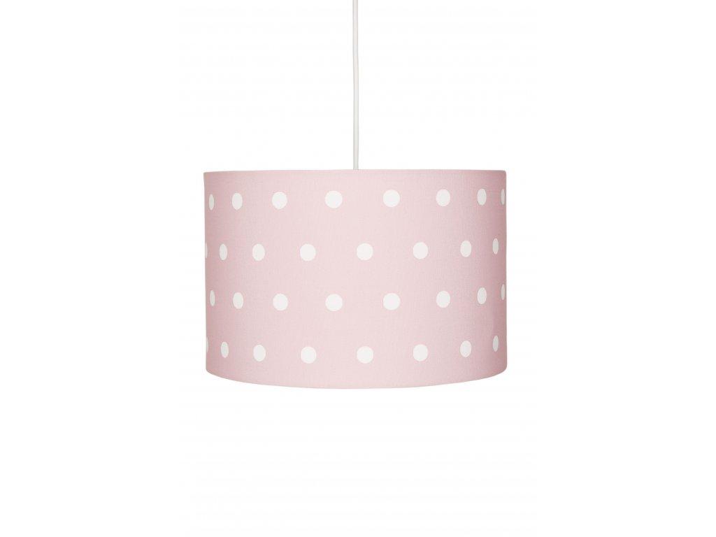 Velice moderní dětské stropní svítidlo, lustr - Růžový s puntíky do holčičího pokojíčku