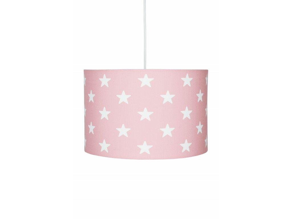 Krásné a moderní dětské závěsné svítidlo, lustr - Růžový s hvězdami, se stane ozdobou každého holčičího či dívčího pokojíčku