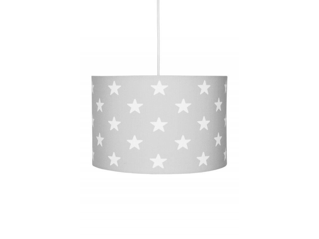 Moderní a stylový dětský lustr - Šedý s hvězdami v neutrální barvě
