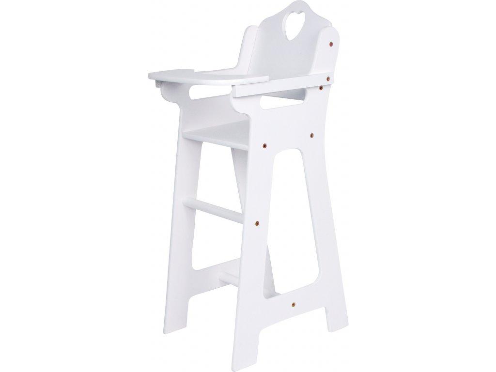 Dřevěná židlička pro panenky bílá