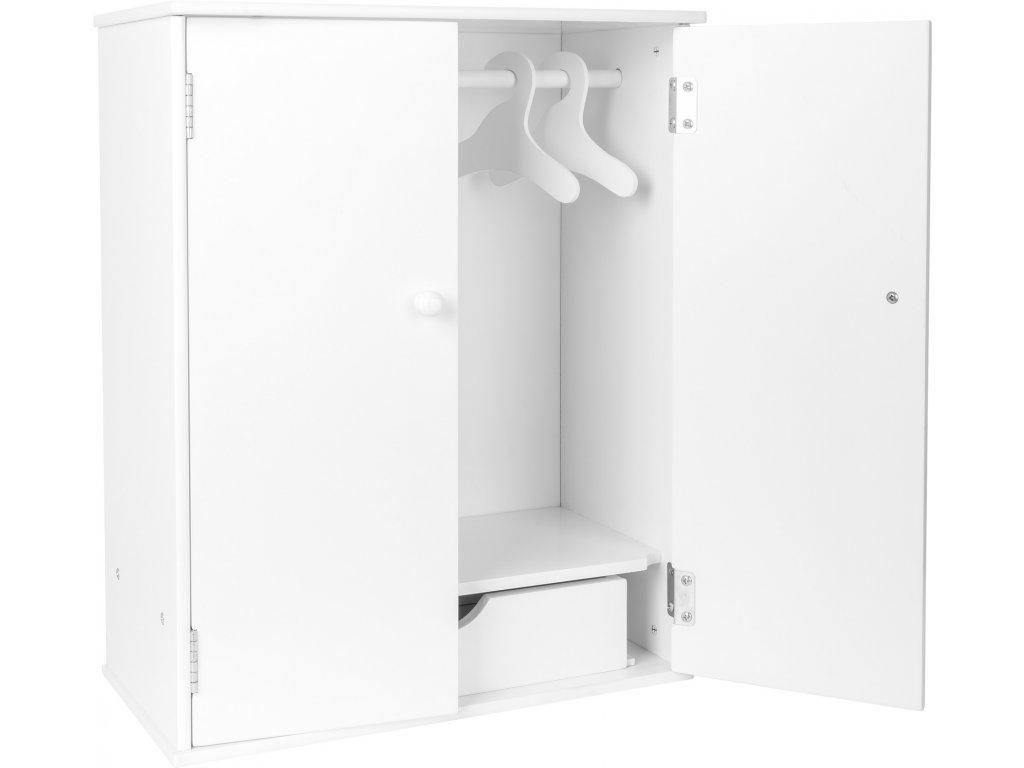 Šatní skříň pro panenky bílá
