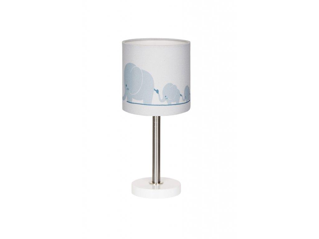 Barevně neutrální krásná dětská stolní lampička - Sloní rodinka