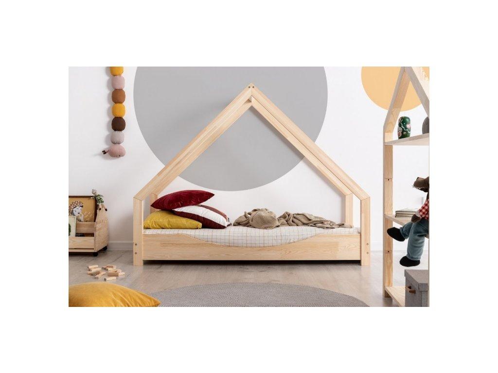 domečková postel s výřezem