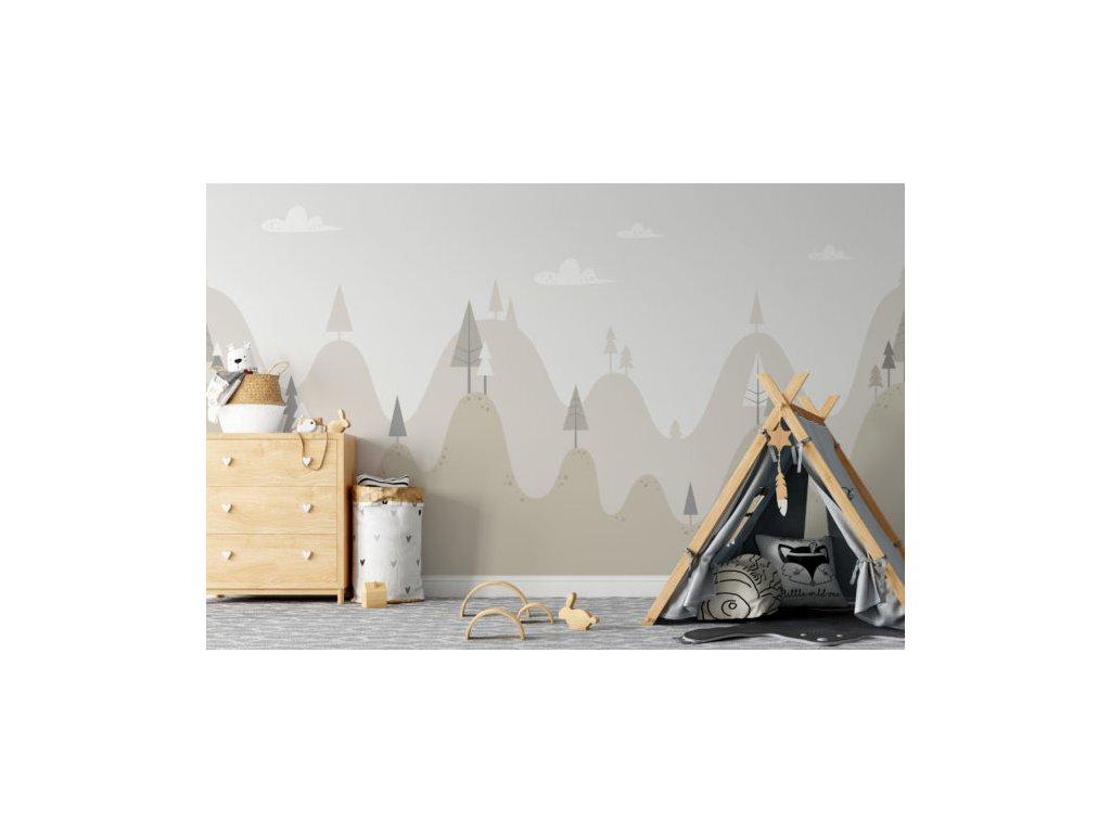 obrazová tapeta do dětského pokoje les
