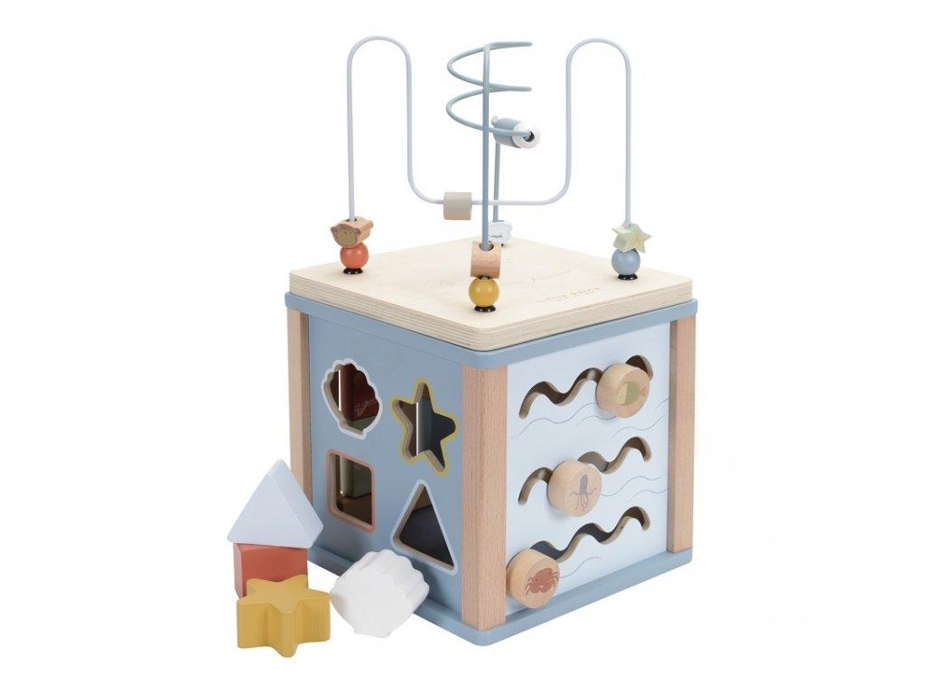 dřevěná montessori kostka