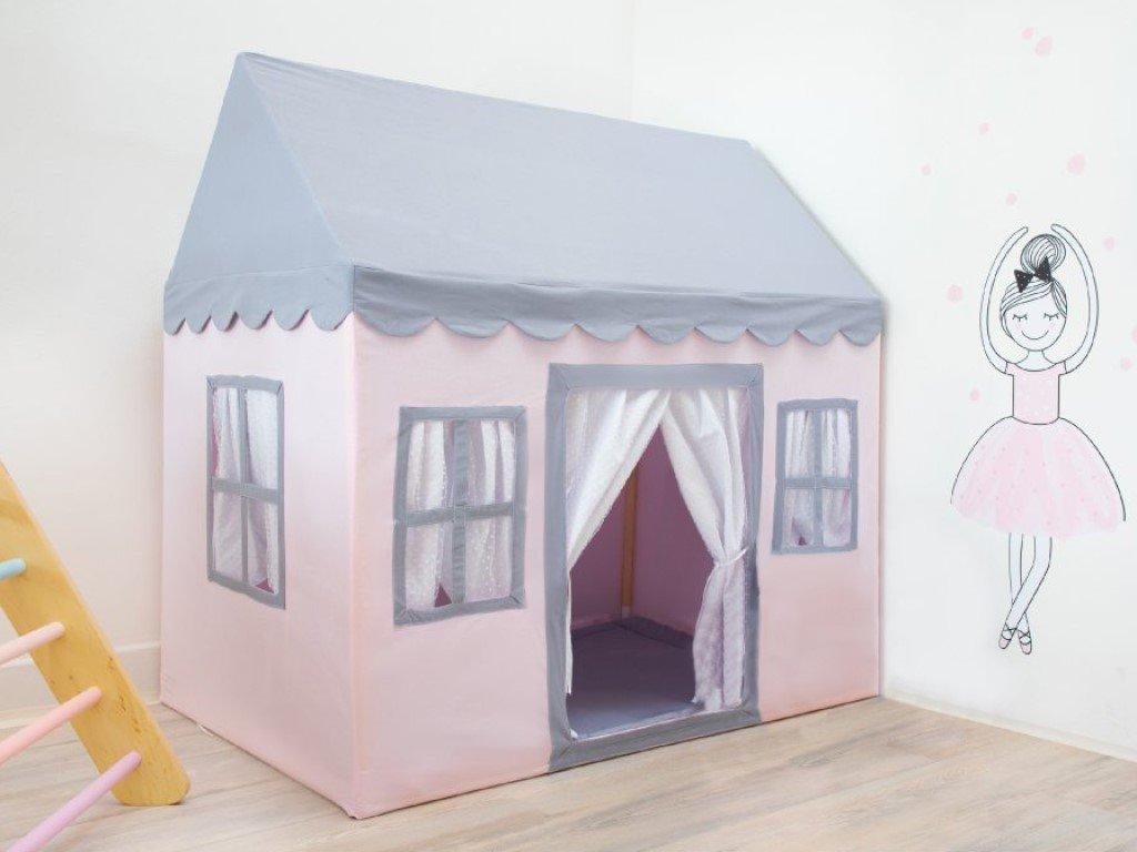textilní domeček na spaní i hraní