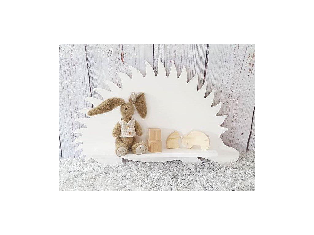 dřevěná polička do dětského pokoje - zvířátko