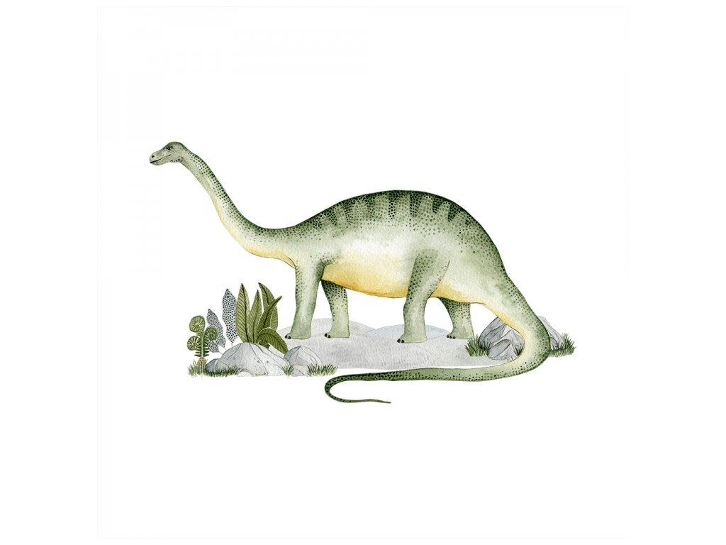Velká samolepka brontosaurus