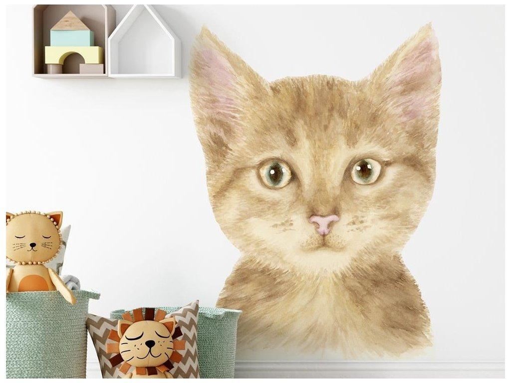Nálepka na zeď do dětského pokoje Kočička