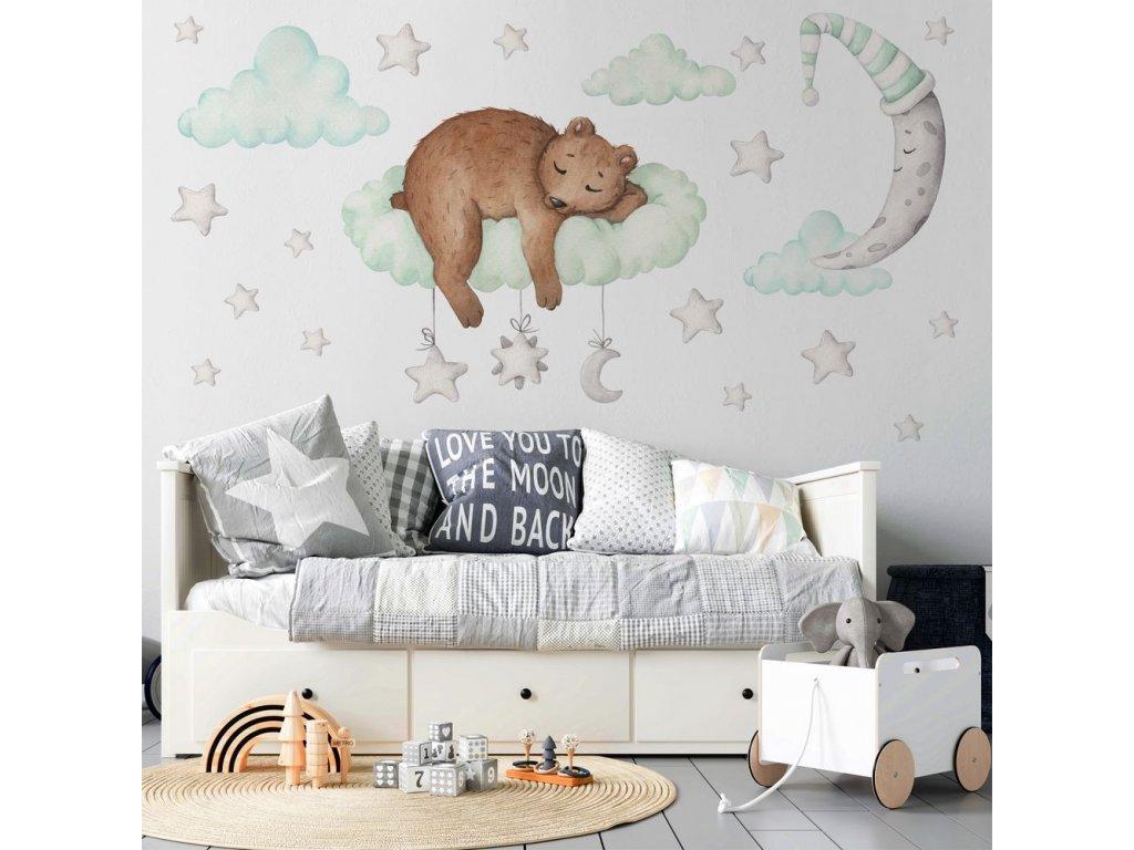 medvídek do dětského pokoje nálepka