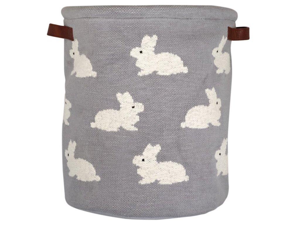 Dětský bavlněný koš na hračky i prádlo se zajíčky