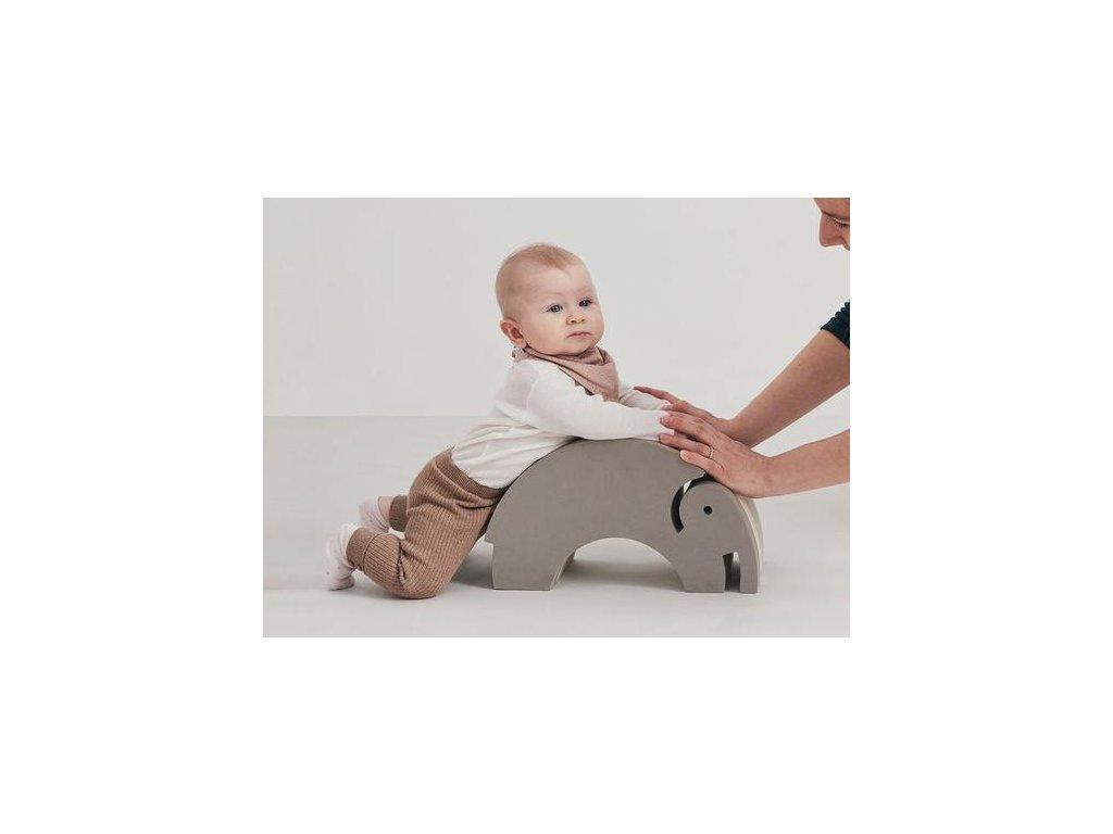 Dětská montessori hračka multifunkční malý slon