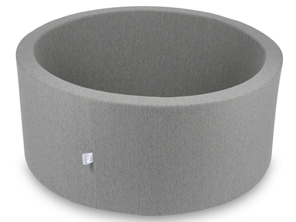 Dětský suchý bazének na míčky šedý v rozměru 90x40 cm