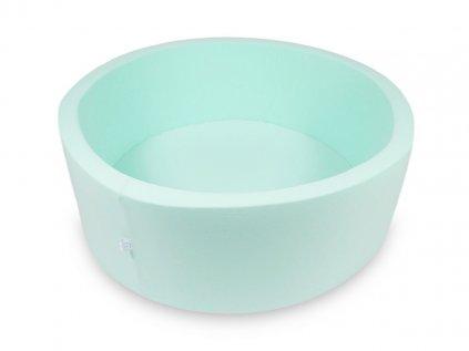 Kvalitní kulatý dětský suchý bazének na míčky 110x40 cm v mátové barvě