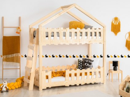 moderní dětská domečková postel