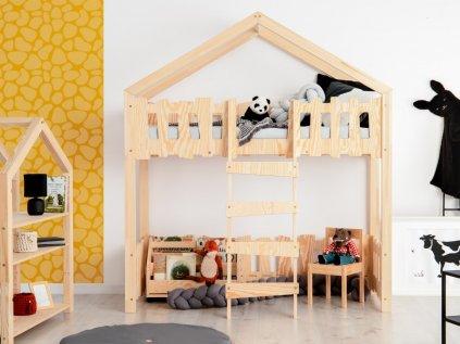 vyvýšená dětská postel domeček