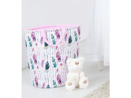 91254 147894 box na hracky oboustranny barva ruzove peri ruzovy