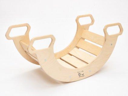 Kvalitní montessori dětská dřevěná houpačka 5v1