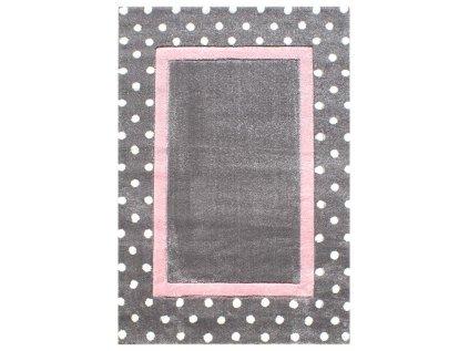 koberec tecka ruzova
