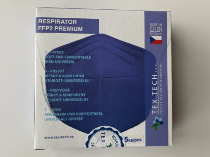 Jednorázový respirátor třídy FFP2 modrý vyrobený v ČR
