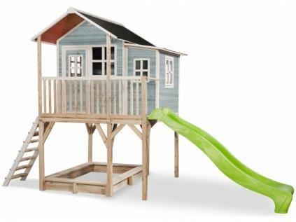 Krásný a velký dětský zahradní domeček na nožkách z kvalitního cedrového dřeva