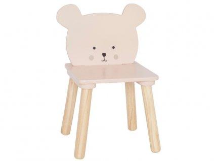 Kvalitní dětská židlička ze dřeva medvídek