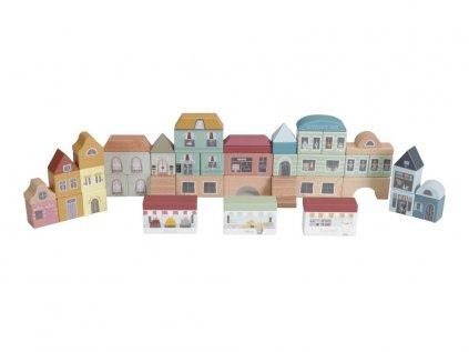 Kvalitní dřevěné kostky pro děti město