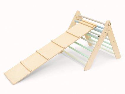 Úžasný montessori set pro kluky Piklerové trojúhelník a prkno
