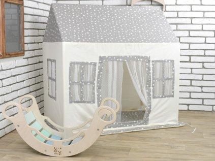 Hrací textilní domeček pro děti Království hvězd luxury