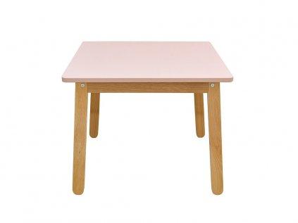 Kvalitní dřevěný dětský stoleček růžový