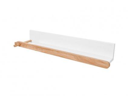 Dřevěná sněhově bílá polička do pokojíčku