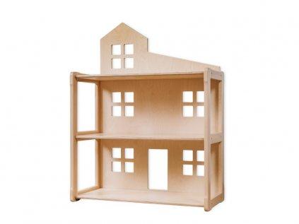Dětský regál domeček i domeček pro panenky přírodní