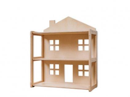 Kvalitní dětský domečkový regál i domeček pro panenky v jednom