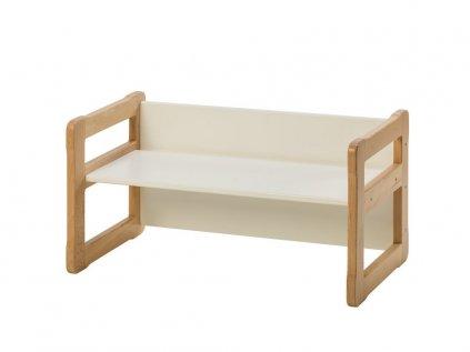 Bílá multifunkční dětská malá lavička