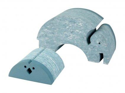 Výhodný set mramorově modrého multifunkčního kuřete a slona