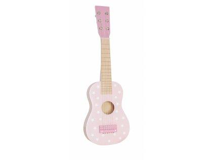detska kytara ruzova