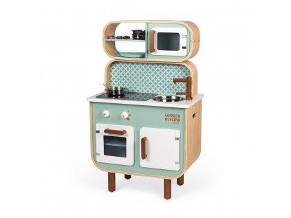 Dětská dřevěná kuchyňka oboustranná