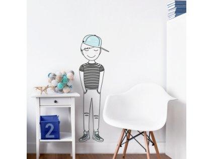 Nálepka na zeď barevné postavičky úžasný Leon